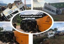 Photo of Just In: 3 buses, 1 truck crash on Accra-Kumasi Highway