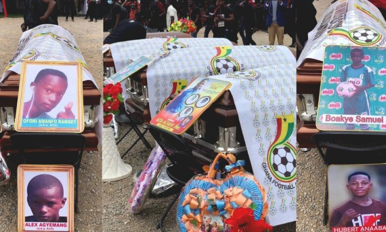 Tears Flow At The Final Funeral Rites For The Offinso Young Footballers (Watch Video) 1