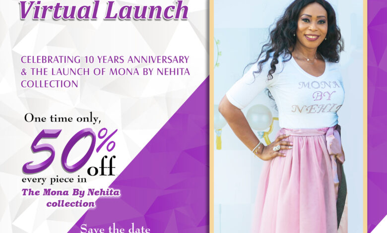 "Nehita Inc. Launches The ""Mona By Nehita"" Collection At A Virtual Event"