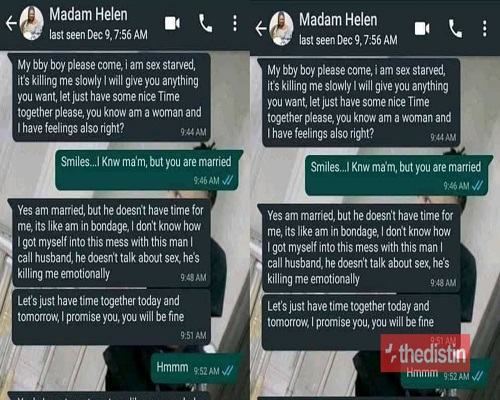 """Leaked WhatsApp Chat Of Married Woman Begging A Young Guy To """"Chop"""" Her [Photos] 1"""