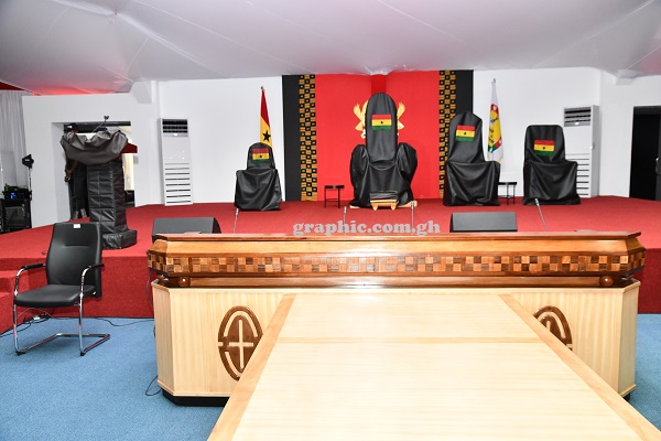 Stage set for Presidential inauguration 1