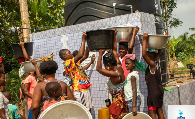 Parah Foundation provides water for Tinkong Tenurase village 1