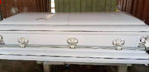 The white coffin is worth GH¢2,200