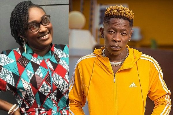 Combination photo of Ruthy and Shatta Wale