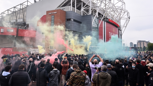 Old Trafford, the home of Manchester United