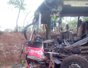 The accident happened on the Akim Asafo road in the Eastern region