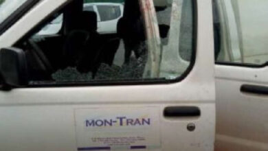 A photo of the bullion van that was attacked on Monday at Jamestown