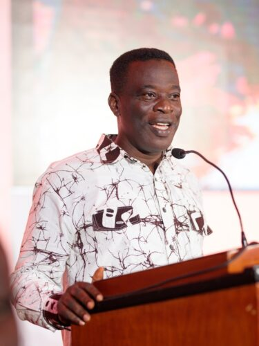 Hon Ignatius Baffour Awuah, Minister for Employment and Labour Relations Delivering the Key note address